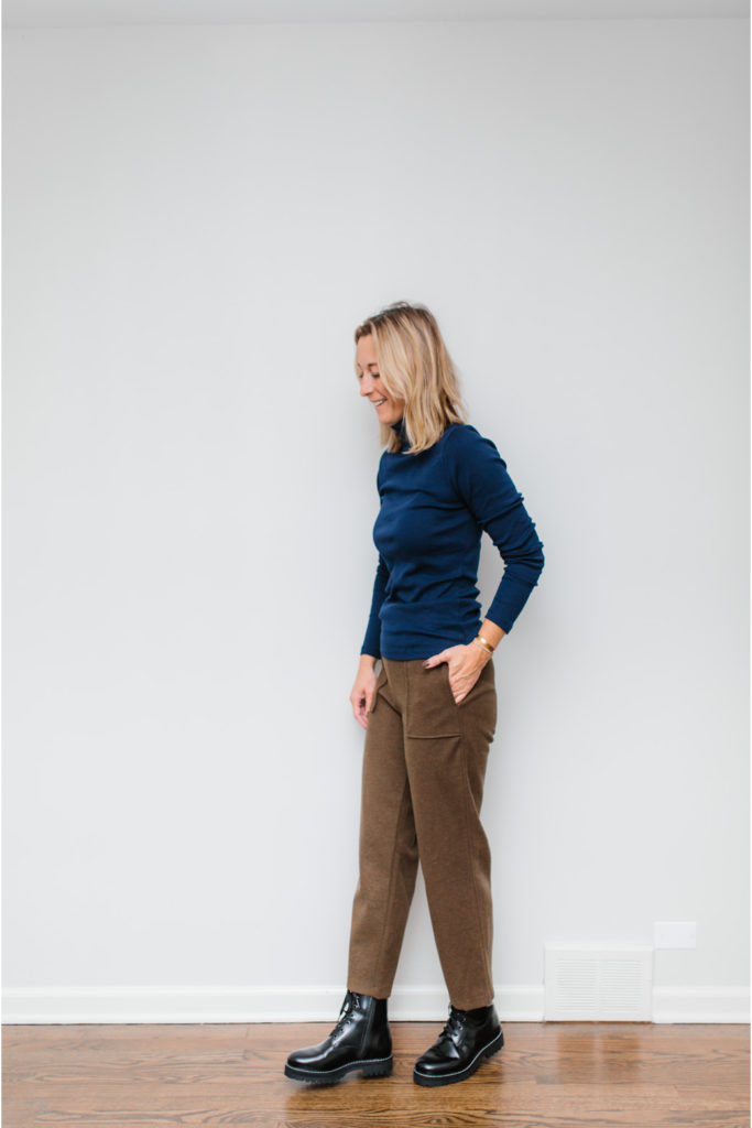 Knit Crop Pants and a Basic