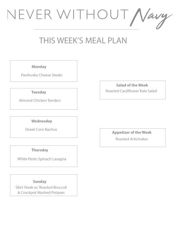 Weekly Meal Plan Vol.5