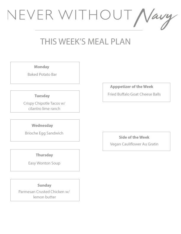 Weekly Meal Plan Vol.8