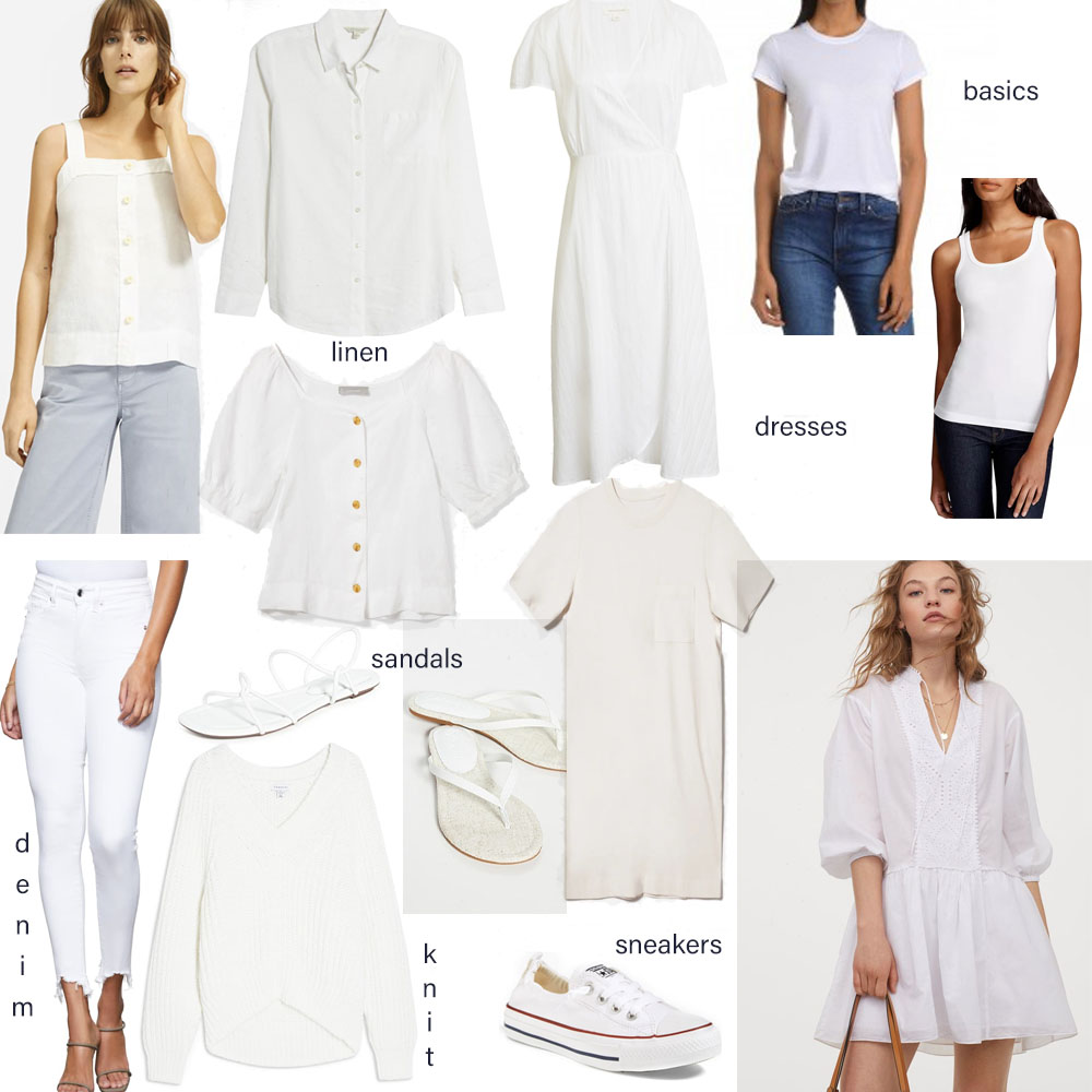 white outfit essentials
