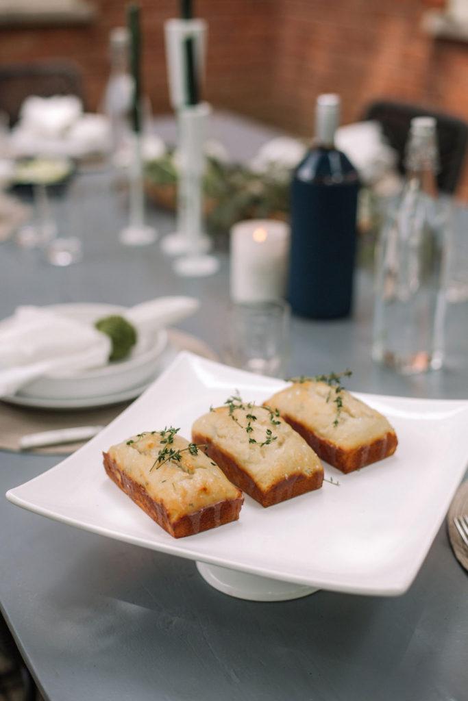 Lemon, Ricotta & Thyme Mini Loaves
