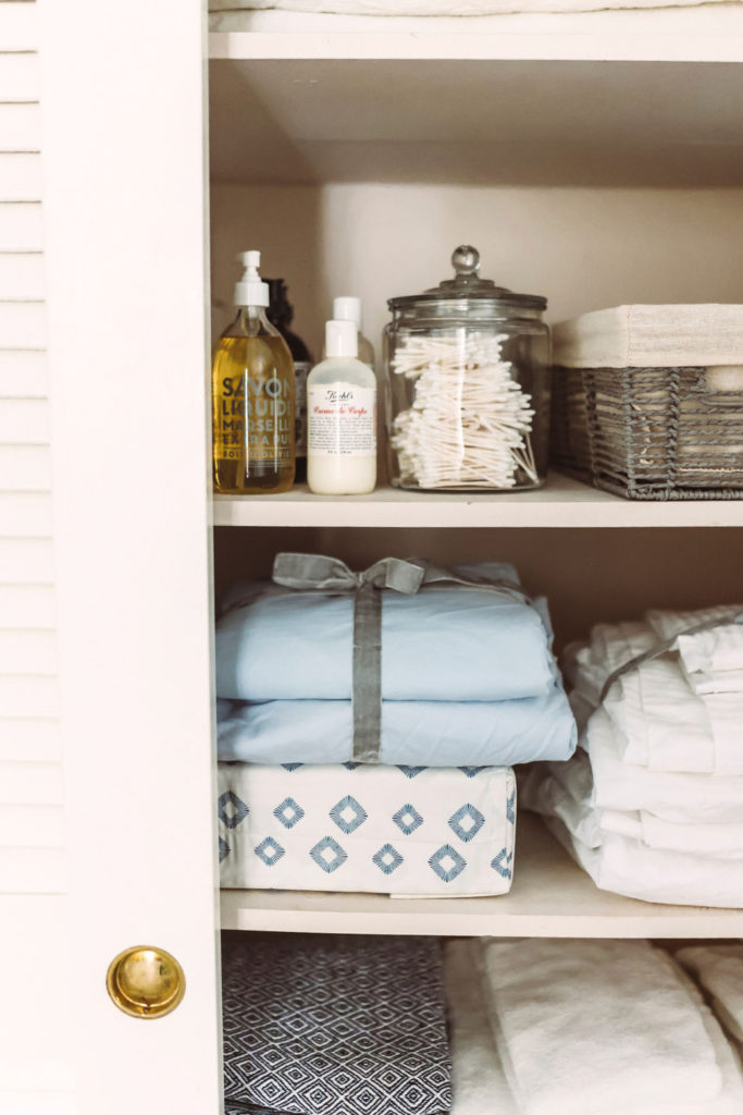 decluttering and organizing closets
