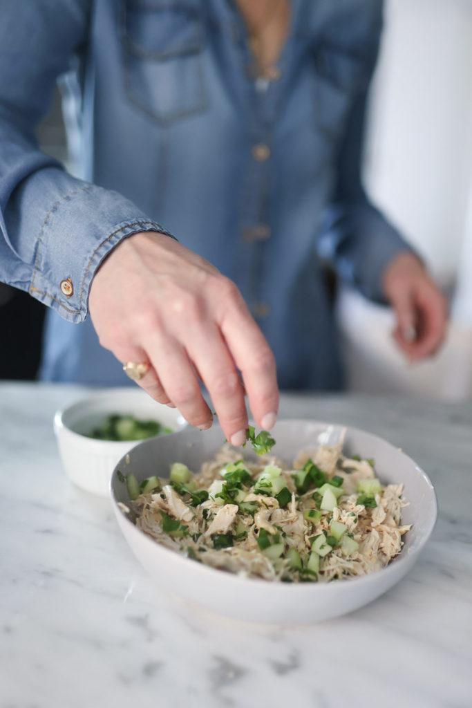 Miso-Ginger Chicken Salad