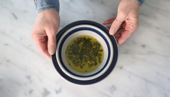 Kitchen Hack: Oil Marinated Herbs