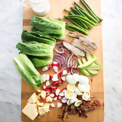 A Cobb Salad Charcuterie Board